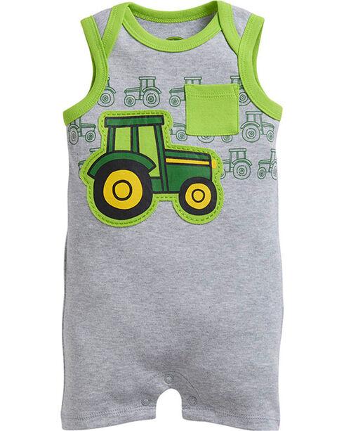 John Deere Infants' Tractor Romper, Grey, hi-res