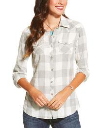 Ariat Women's Heather Grey Ann Button Shirt, , hi-res
