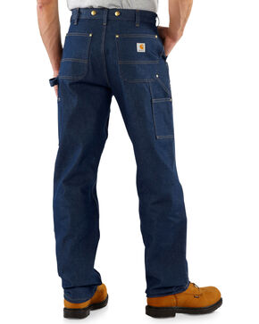 Carhartt Men's Double Front Logger Dungaree Jeans, Denim, hi-res