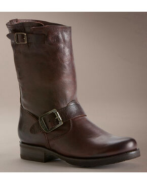 Frye Women's Veronica Shortie Boots - Round Toe, Dark Brown, hi-res