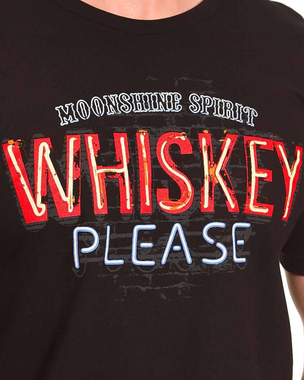 Moonshine Spirit Men's Whiskey Please Tee , Black, hi-res