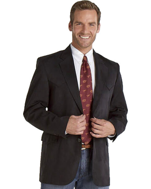 Circle S Men's Houston Microsuede Sport Coat, Black, hi-res