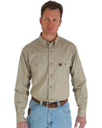 Riggs Workwear Men's Long Sleeve Twill Work Shirt, , hi-res