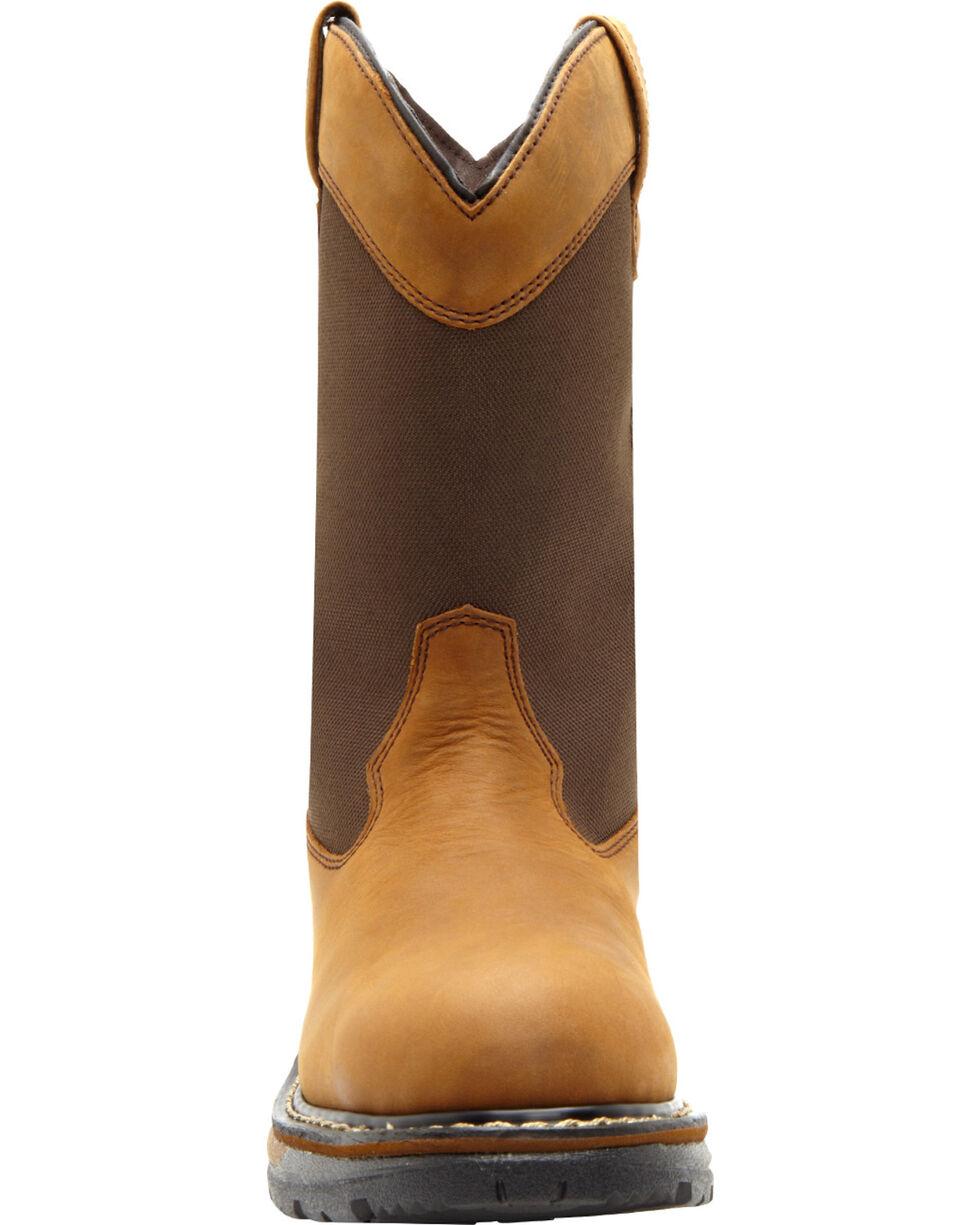 Rocky Men's Ride Insulated Waterproof Wellington Boots, Brown, hi-res