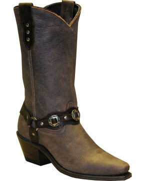 "Sage by Abilene Women's 11"" Fashion Harness Western Boots - Snip Toe, Brown, hi-res"