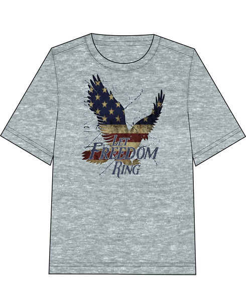 Fencepost Men's Let Freedom Ring T-Shirt, Heather Grey, hi-res