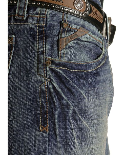 Ariat Men's M4 Fashion Boot Cut Jeans, Med Stone, hi-res