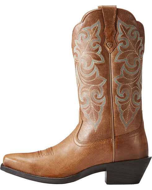 Ariat Women's Tan Leather Western Boots - Square Toe , Tan, hi-res