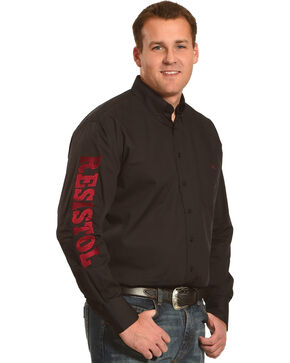 Resistol Men's Black Griffin Logo Western Shirt , Black, hi-res