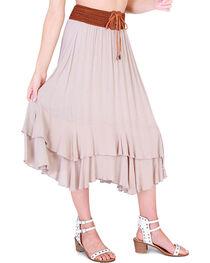 HYFVE Women's Tie Front Midi Skirt, , hi-res