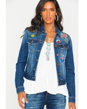 Wrangler Women's Denim Patch Jacket , Indigo, hi-res