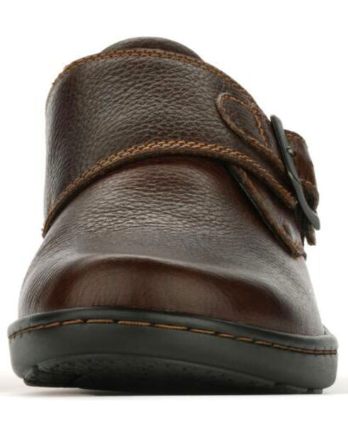 Eastland Women's Brown Anna Monk Strap Slip On , Brown, hi-res