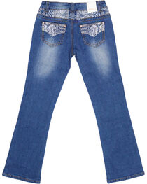 Shyanne® Girls' Embroidered Boot Cut Jeans , , hi-res