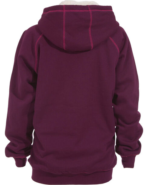 Berne Women's Zip-Front Hooded Sweatshirt - 3XL and 4XL, Plum, hi-res