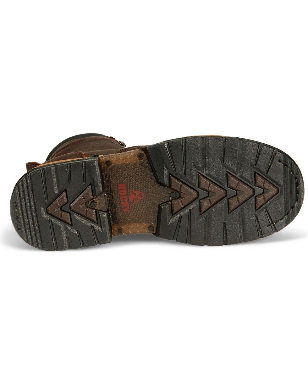 Rocky Men's IronClad Steel Toe Waterproof Work Boots, Bridle Brn, hi-res