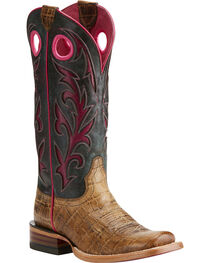 Ariat Women's Chute Out Croc print Western Boots, , hi-res