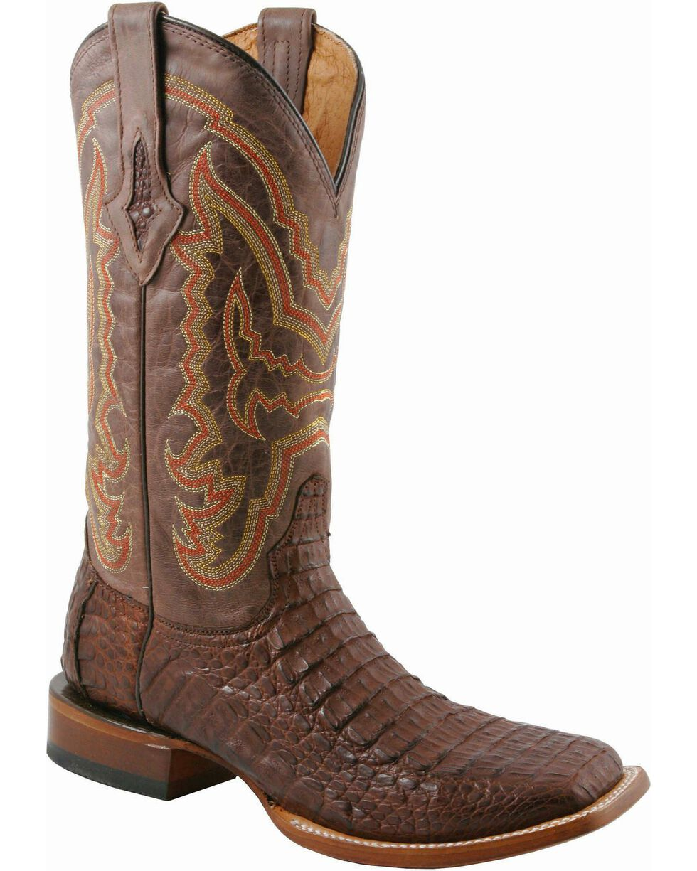 Lucchese Men's Exotic Caiman Western Boots, Cigar, hi-res