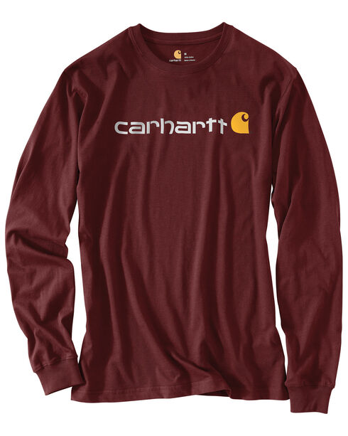Carhartt Men's Long Sleeve Logo T-Shirt, , hi-res