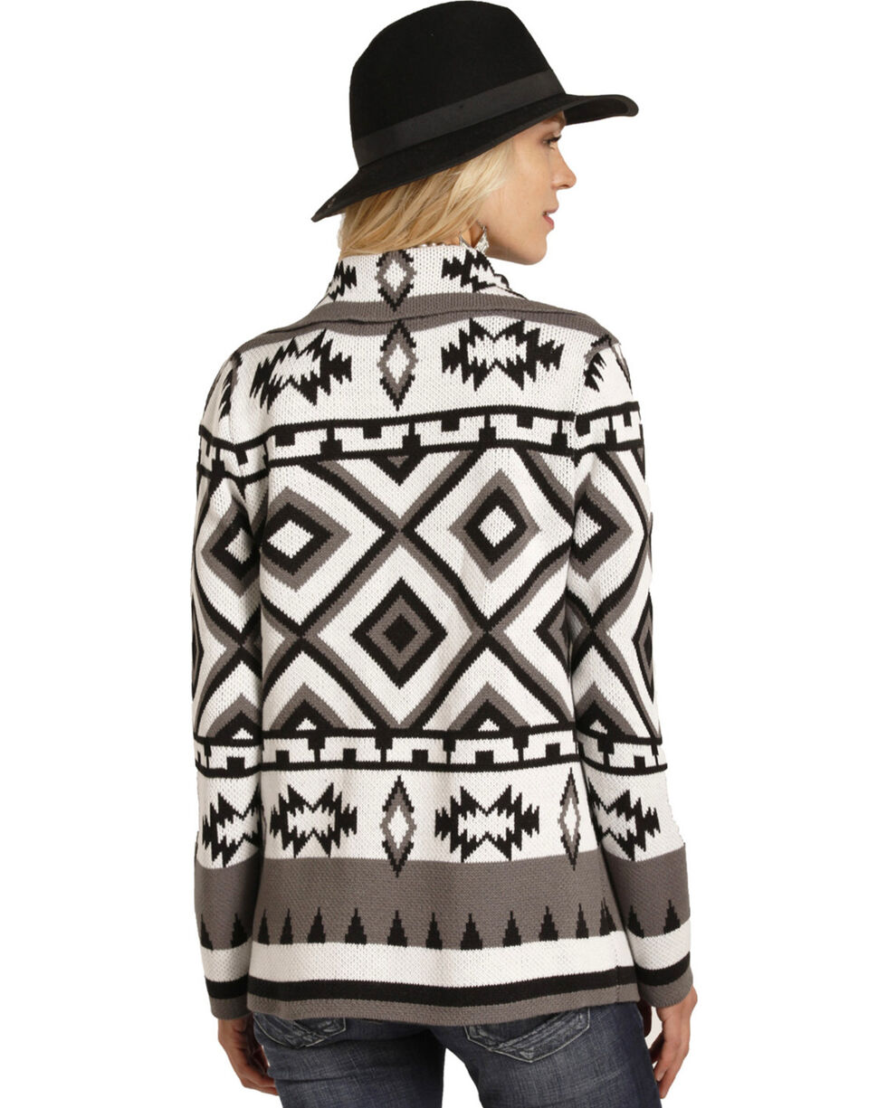 Panhandle Women's Aztec Pattern Cardigan, , hi-res