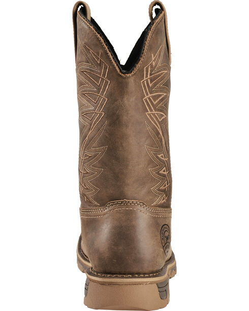 Red Wing Irish Setter Distressed Brown Marshall Work Boots - Soft Square Toe , Brown, hi-res
