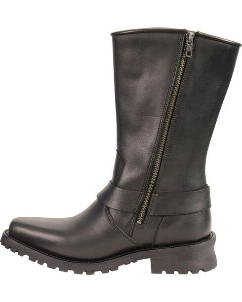 Milwaukee Leather Men's Braid & Rivet Harness Boots - Square Toe, Black, hi-res
