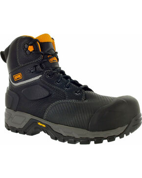 Magnum Halifax 6.0 Waterproof Work Boots - Composite Toe, Black, hi-res