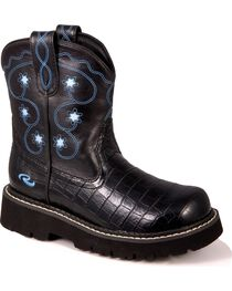 Roper Kid's Chunk Faux Leather Boots, , hi-res