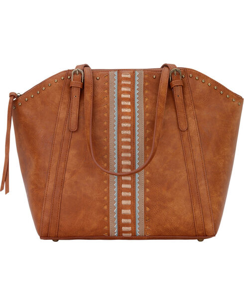 Bandana by American West Women's El Dorado Zip Top Tote , Tan, hi-res