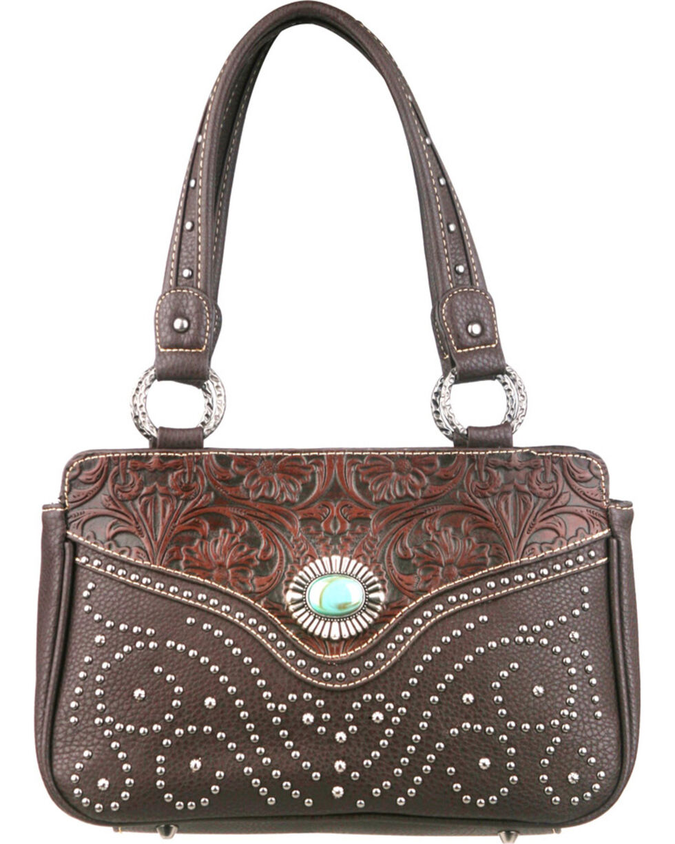 Montana West Trinity Ranch Tooled Design Handbag, , hi-res