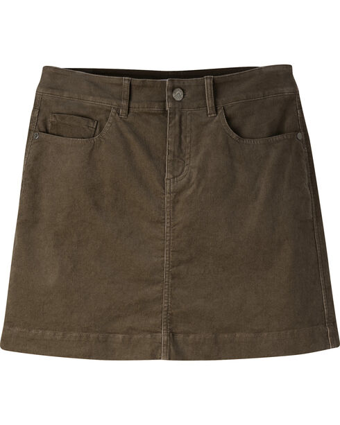 Mountain Khakis Women's Canyon Cord Slim Fit Skirt, Dark Brown, hi-res