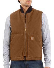Carhartt Men's Sandstone Arctic Quilt Lined Vest, , hi-res