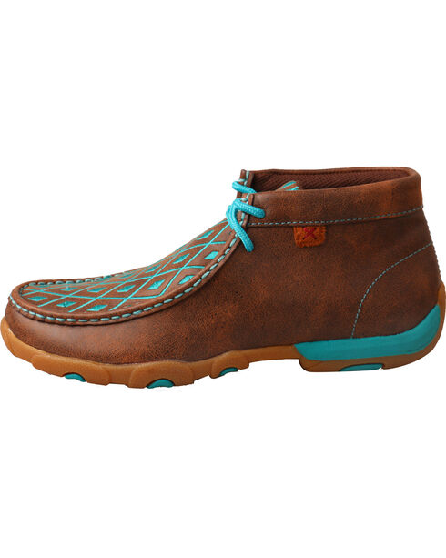 Twisted X Women's Diamond Stitched Lace-Up Moccasins, Multi, hi-res