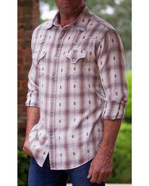 Ryan Michael Men's Black Ombre Plaid #7 Shirt , , hi-res