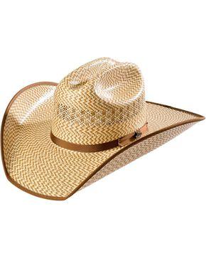 Justin Bent Rail Custer Straw Cowboy Hat, Natural, hi-res
