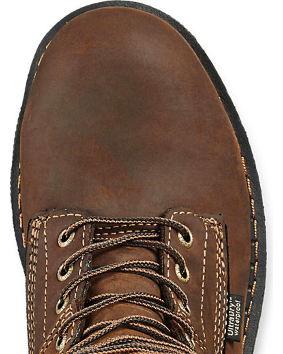 "Irish Setter by Red Wing Shoes Men's Ramsey Brown Waterproof 8"" Work Boots -  Soft Round Toe , Brown, hi-res"