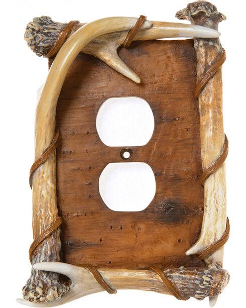 Demdaco Brown Bark Antler Outlet Cover , Brown, hi-res