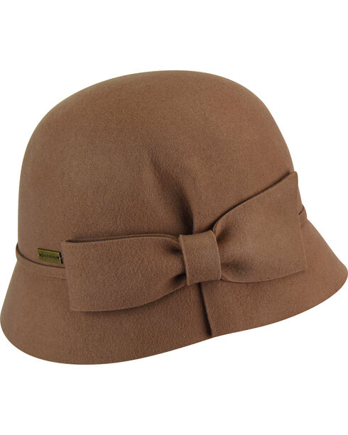 Betmar Women's Dixie Light Camel Cloche, Camel, hi-res