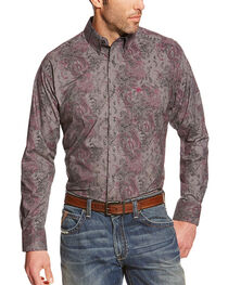 Ariat Men's Vintage Floral Pocket Long Sleeve Shirt, , hi-res