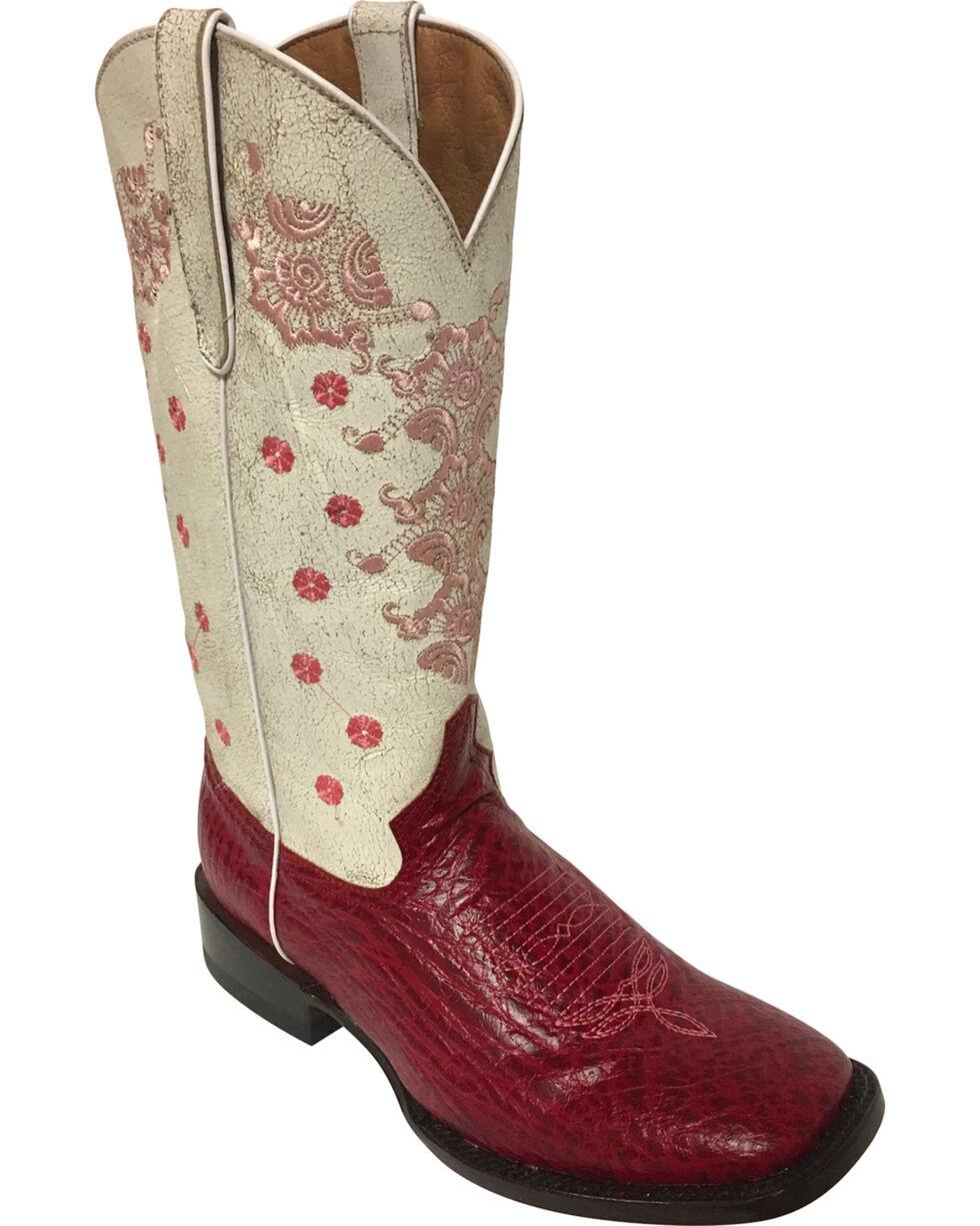 Ferrini Women's Acero Fuschia Cowgirl Boots - Square Toe, Fuscia, hi-res