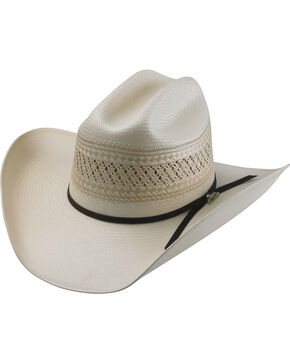 Tony Lama Men's 25X Cattleman Straw Hat, Natural, hi-res