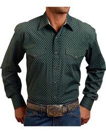 Stetson Men's Vintage Leaf Print Long Sleeve Shirt, , hi-res