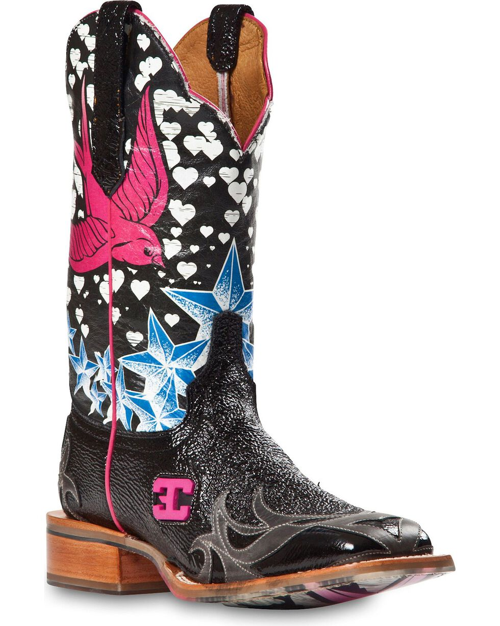 Cinch Women's Stella Bird Western Boots, Black, hi-res
