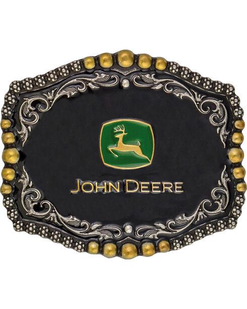 Montana Silversmiths John Deere Medium Scalloped Attitude Belt Buckle, Multi, hi-res