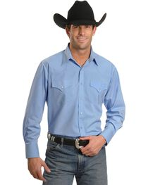 Ely Solid Classic Western Shirt - Custom Fit, Neck & Sleeve Sizing, , hi-res