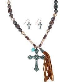 Shyanne® Women's Antiqued Cross Jewelry Set, , hi-res