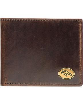 Jack Mason Men's Denver Broncos Legacy Traveler Wallet , Brown, hi-res