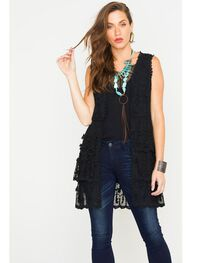 Young Essence Women's Sleeveless Lace Cardigan, , hi-res