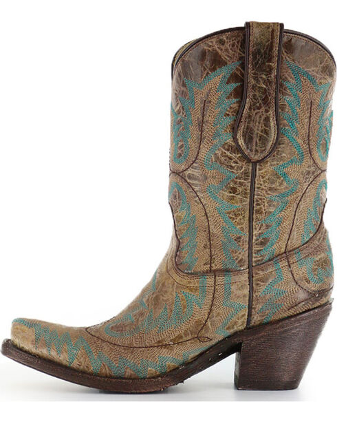 "Corral Women's 9"" Stitched Fashion Western Boots, Brown, hi-res"