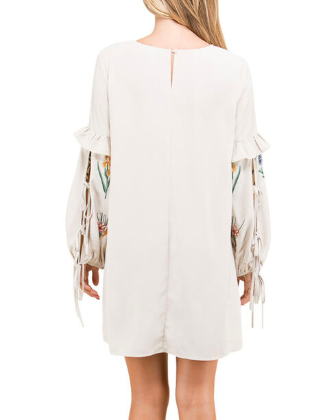 Polagram Women's Floral Embroidered Long Sleeve Dress, , hi-res