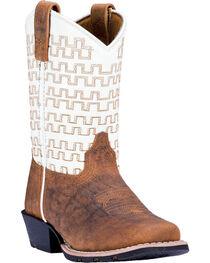 Dan Post Boys' Copper Sammie Leather Cowboy Boots - Square Toe , , hi-res
